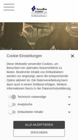 Vorschau der mobilen Webseite www.bavarianguards.de, Bavarian Guards GmbH