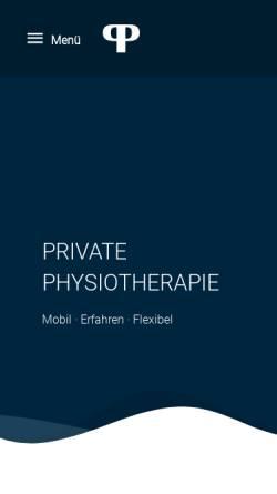 Vorschau der mobilen Webseite private-physiotherapie.eu, Mobile Healthcare UG