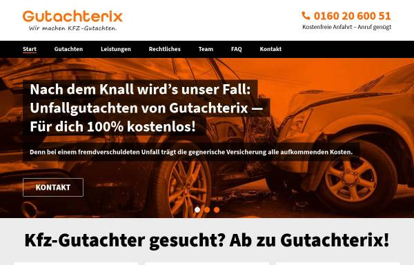 Vorschau von www.gutachterix.de, Gutachterix