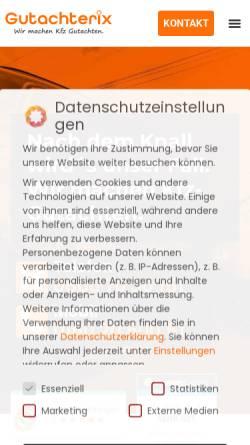 Vorschau der mobilen Webseite www.gutachterix.de, Gutachterix