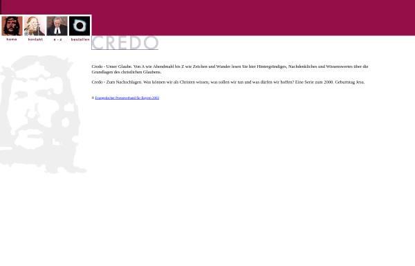 Vorschau von www.credo.de, Credo