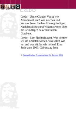 Vorschau der mobilen Webseite www.credo.de, Credo