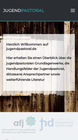 Vorschau der mobilen Webseite www.jugendpastoral.de, Institut für praktische Theologie Benediktbeuern