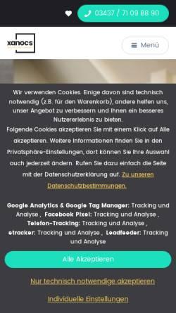 Vorschau der mobilen Webseite xanocs.com, xanocs Küchenstudios