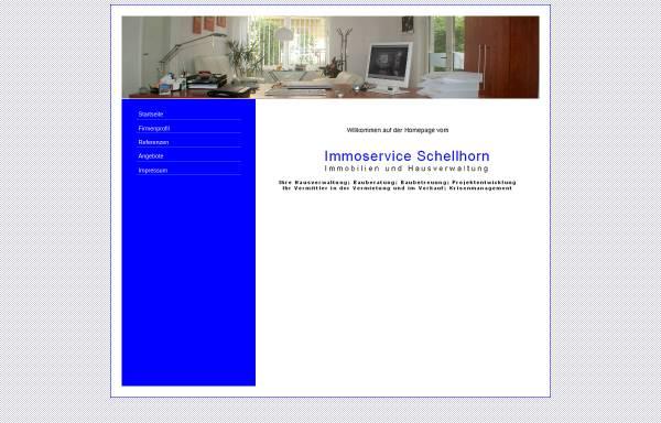 Vorschau von ImmoserviceSchellhorn.de, Immoservice Schellhorn