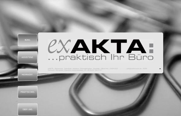 Vorschau von www.exakta-buero.de, exAKTA