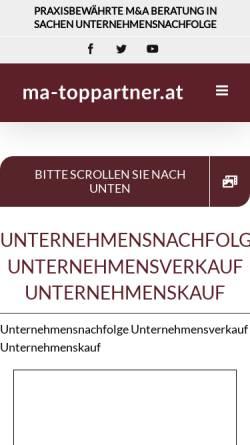 Vorschau der mobilen Webseite www.ma-toppartner.de, M&A TOP Partner GmbH & Co KG