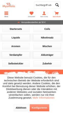 Vorschau der mobilen Webseite www.mysmolo.de, Mysmolo