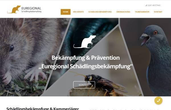 Vorschau von www.euregional-schaedlingsbekaempfung.de, Euregional-Schädlingsbekämpfung