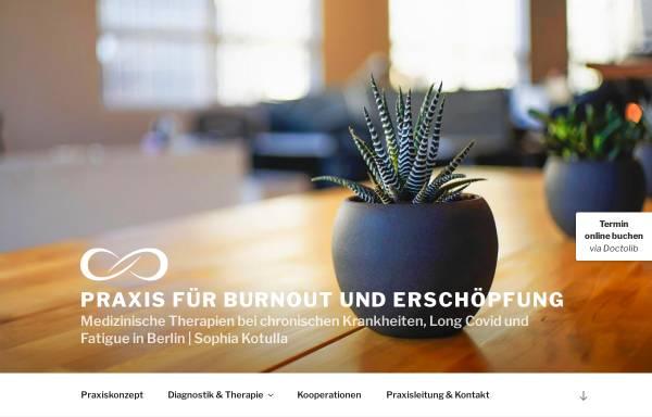 Vorschau von burnout-praxis.com, Praxis für Burnout und Erschöpfung - Sophia Kotulla