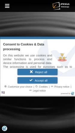 Vorschau der mobilen Webseite www.jpk-web-vision.de, Webdesignagentur - Web Vision