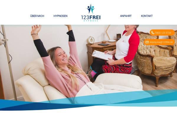 Vorschau von die-hypnotiseurin-leipzig.de, 123FREI Hypnosepraxis Leipzig