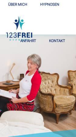 Vorschau der mobilen Webseite die-hypnotiseurin-leipzig.de, 123FREI Hypnosepraxis Leipzig