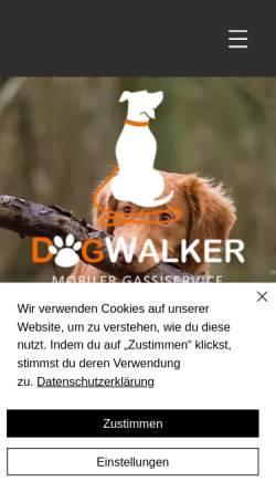 Vorschau der mobilen Webseite www.dogwalker-haan.de, Dogwalker Haan - Pia-Madeleine Schweda