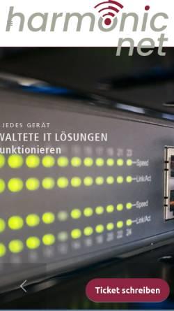 Vorschau der mobilen Webseite www.harmonicnet.de, HarmonicNet