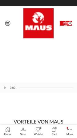 Vorschau der mobilen Webseite www.maus-feuerloescher.de, MAUS - M. Hermsen