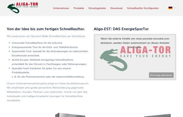 Vorschau von aliga-tor.de, Aliga-Tor GmbH
