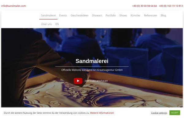 Vorschau von sandmaler.com, Sand-Art Kreativagentur GmbH
