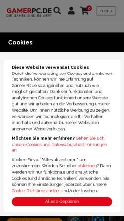 Vorschau der mobilen Webseite gamerpc.de, GamerPC - CPS Nederland B.V.