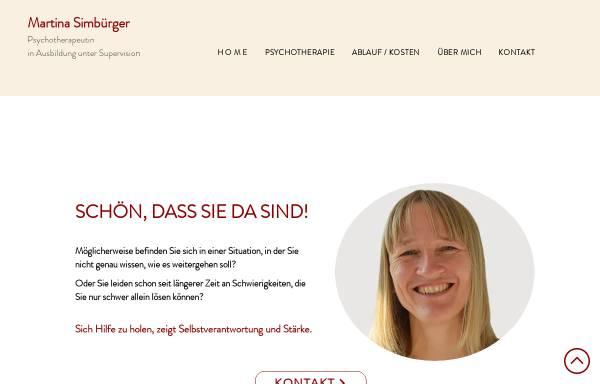 Vorschau von www.psychotherapie-simbuerger.at, Psychotherapie Martina Simbürger
