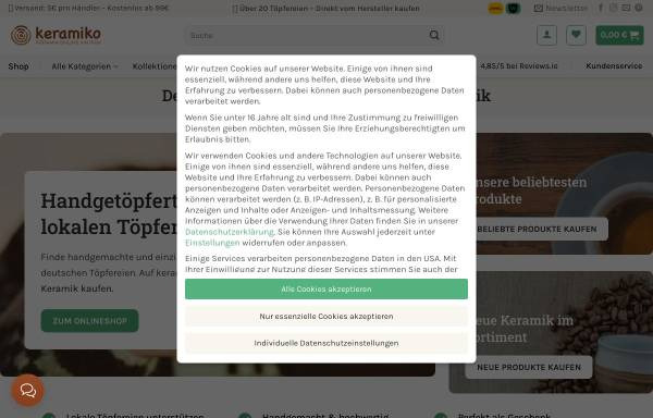 Vorschau von keramiko.de, keramiko UG (haftungsbeschränkt)