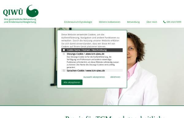 Vorschau von www.tcm-qiwu.de, QIWU - Praxis für ganzheitliche Kinderwunschbehandlung