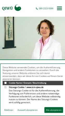 Vorschau der mobilen Webseite www.tcm-qiwu.de, QIWU - Praxis für ganzheitliche Kinderwunschbehandlung