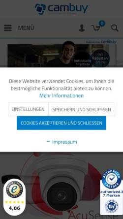 Vorschau der mobilen Webseite cambuy.de, cambuy
