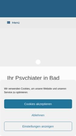 Vorschau der mobilen Webseite www.psychiater-bad-aibling.de, Privatpraxis für Psychiatrie und Psychotherapie Dr. Maria Thurm