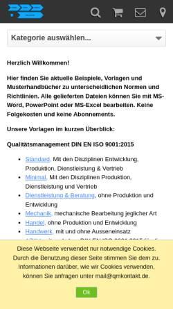 Vorschau der mobilen Webseite www.qmshop.de, Qualitätsmanagement Verlag Seiler