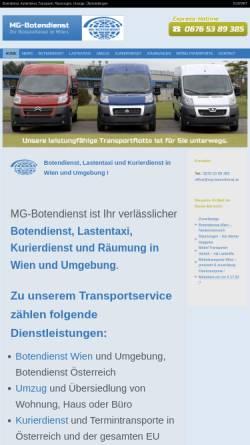 Vorschau der mobilen Webseite www.mg-botendienst.at, MG-Botendienst Wien