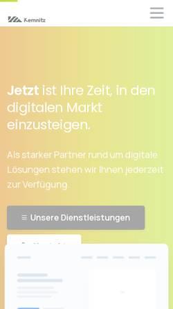 Vorschau der mobilen Webseite kemnitz.solutions, Kemnitz Solutions UG (haftungsbeschränkt)