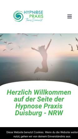 Vorschau der mobilen Webseite hypnose-praxis-duisburg.de, Hypnose Praxis Thomas Dünnewald