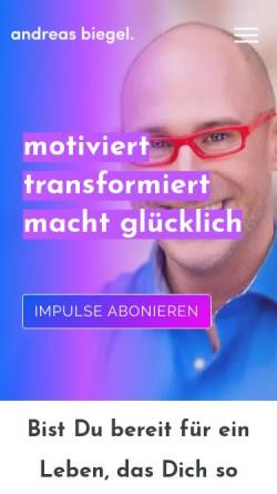 Vorschau der mobilen Webseite andreas-biegel.de, Andreas Biegel Mentoring