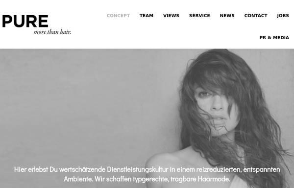 Vorschau von purecompany.de, PURE more than hair