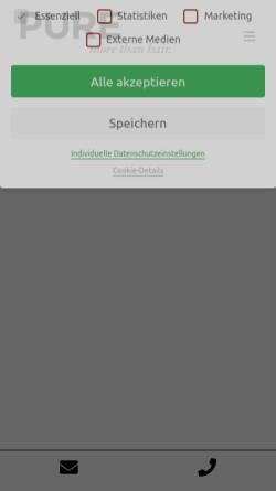 Vorschau der mobilen Webseite purecompany.de, PURE more than hair