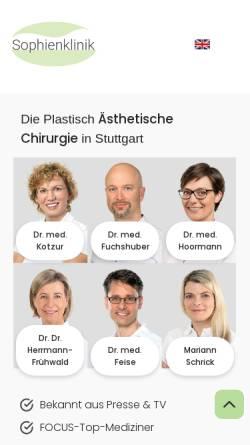 Vorschau der mobilen Webseite klinik-herrmann.de, Dr. Dr. med. Susanne Herrmann-Frühwald