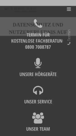 Vorschau der mobilen Webseite der-hoerakustiker-stuttgart.de, Der Hörakustiker Stuttgart - Thomas Lorié