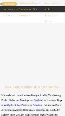 Vorschau der mobilen Webseite www.mygoldhaus.de, Goldhaus