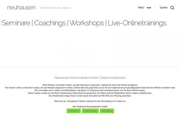 Vorschau von www.neuhausen.com, Neuhausen Kommunikation GmbH