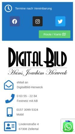 Vorschau der mobilen Webseite digitalbild-herweck.de, DigitalBild-Herweck.de