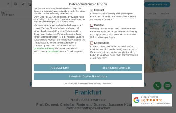 Vorschau von praxisklinik-schillerstrasse.de, Praxis Schillerstrasse