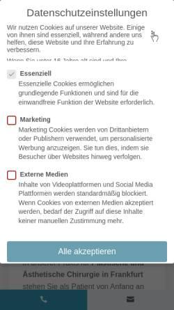 Vorschau der mobilen Webseite praxisklinik-schillerstrasse.de, Praxis Schillerstrasse