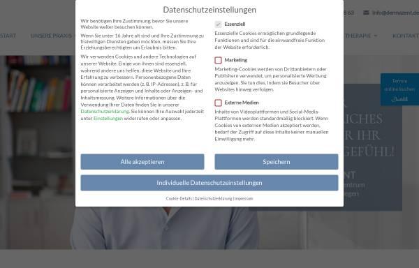 Vorschau von hautarzt-muenchen.com, Dermazent
