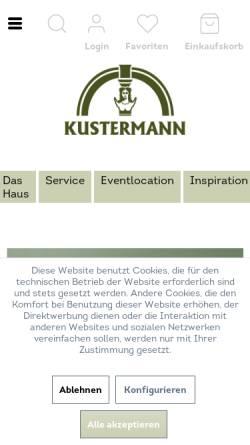 Vorschau der mobilen Webseite shop.kustermann.de, F.S. Kustermann GmbH
