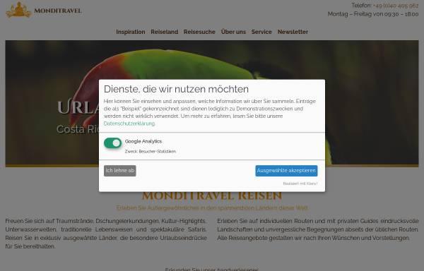 Vorschau von monditravel.com, Monditravel