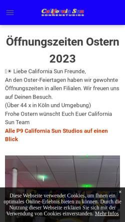 Vorschau der mobilen Webseite www.californiasun.de, California Sun