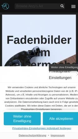 Vorschau der mobilen Webseite anzysart.de, Anzy's Art & Design