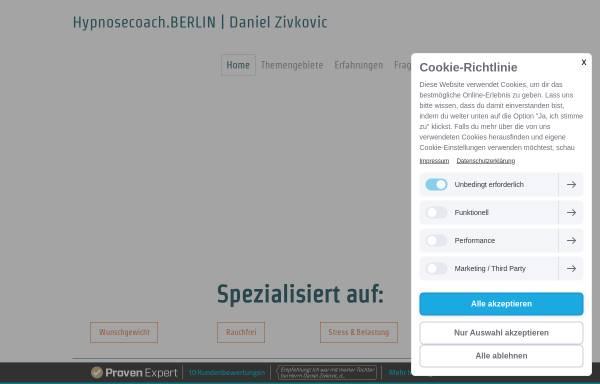 Vorschau von www.hypnosecoach.berlin, Hypnosecoach.BERLIN | Daniel Zivkovic