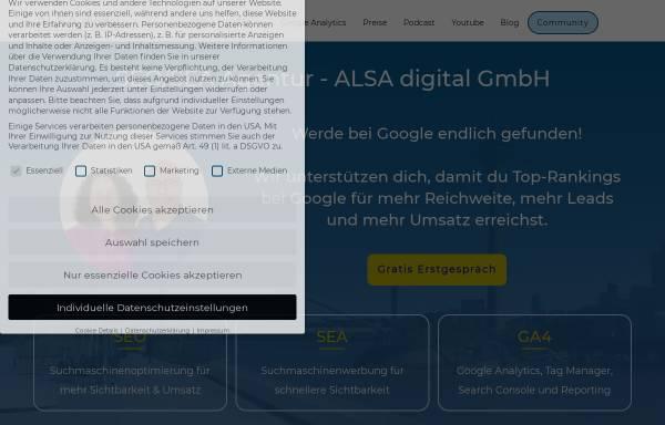 Vorschau von alsa-digital.de, ALSA digital GmbH